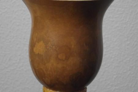 REF. 013 – Cuia casco fino com pé de massa sem bocal.